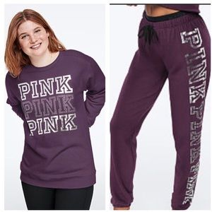 PINK VS EVERYDAY LOUNGE CAMPUS CREW, CLASSIC PANT